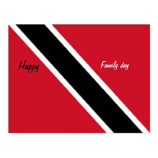 Postales felices de Trinidad del día de la familia