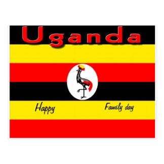 Postales felices de Uganda del día de la familia