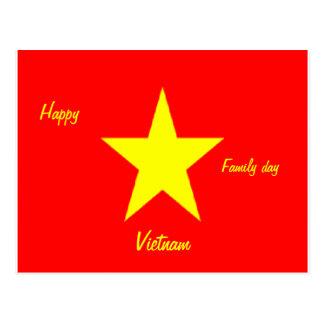 Postales felices de Vietnam del día de la familia