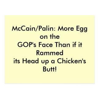 Postales, huevo en la cara del GOP Postal