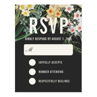 Postales ideales botánicas de RSVP que se casan