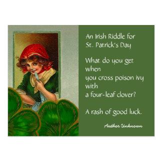 Postales irlandesas de la PC del día del St