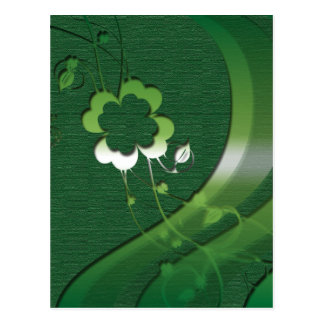 Postales irlandesas de los tréboles de la suerte