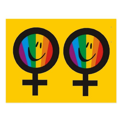 Postales lesbianas del símbolo