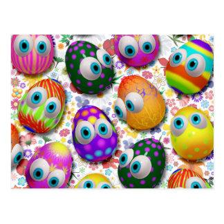 Postales lindas del dibujo animado de los huevos d