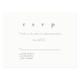 Postales modernas simples del boda del rsvp