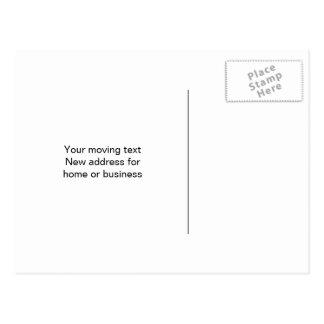 Postales móviles de la relocalización divertida o