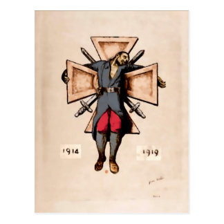Postales pacifistas de la imagen del soldado