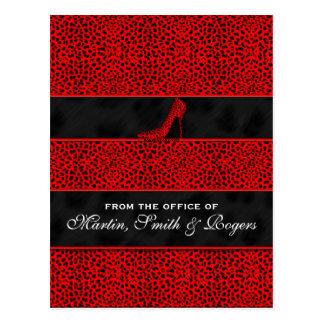 Postales personalizadas impresión roja del