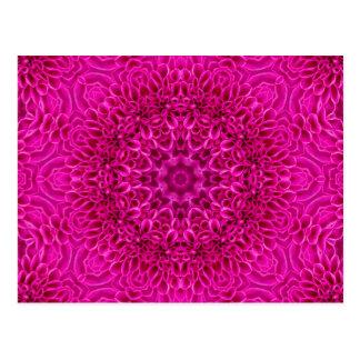 Postales rosadas del caleidoscopio de la flor