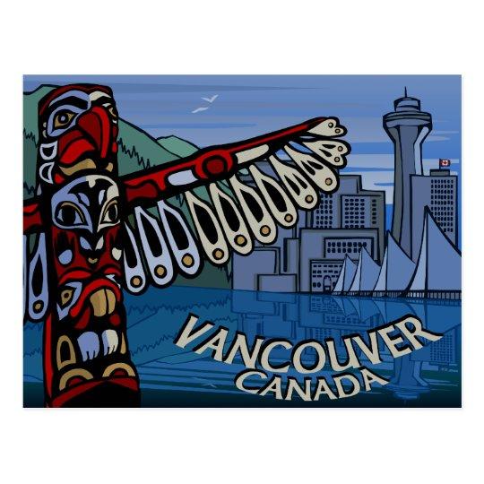 Postales tótem de Vancouver y tarjetas de las