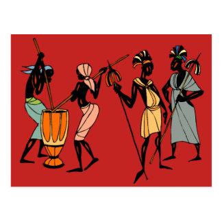 Postales tribales africanas del arte