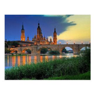 Postcard Basilica del Pilar in Zaragoza, Spain Postal