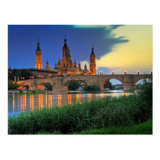 Postcard Basilica del Pilar in Zaragoza, Spain