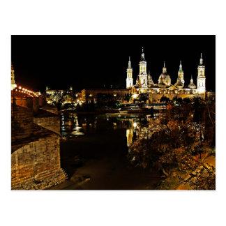 Postcard Basilica Dell Pilar Zaragoza Spain Postal