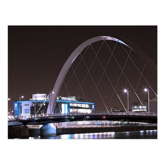 Postcard Glasgow Squinty Puente Postal
