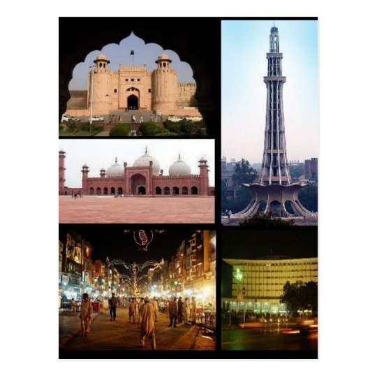 Postcard Lahore Monumentos, Punjab, Pakistán Postal