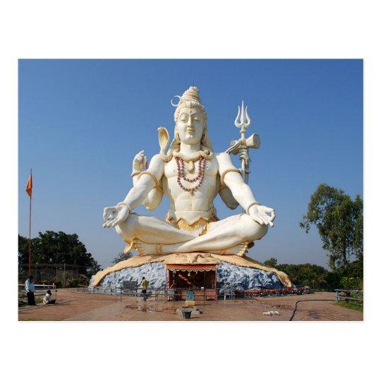 Postcard Lord Shiva Statue at Bijapur, India Postal
