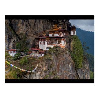 Postcard Taktsang Monastery Tiger´s nest in Bhutan Postal