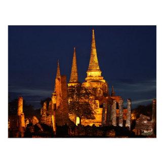 Postcard Wat Phra Si in Ayutthaya Thailand Postal