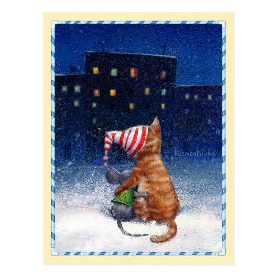 Postcards_Looking en las luces de la ciudad Postal