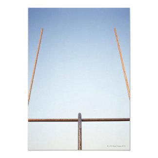 Poste de la meta del fútbol invitación 12,7 x 17,8 cm