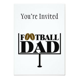 Poste de la meta del papá del fútbol invitación 12,7 x 17,8 cm