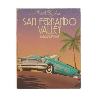 Poste del viaje del vintage del valle de San Impresión En Madera