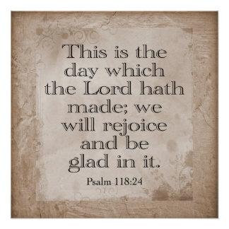 Póster 118:24 de los salmos --- *Art Print*