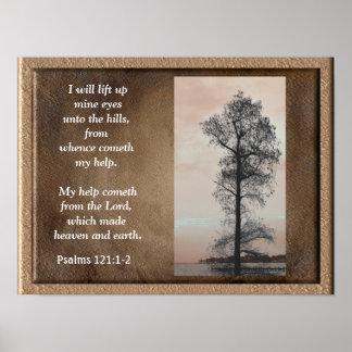 Póster 121:1 de los salmos - ~Lift 2 encima de la