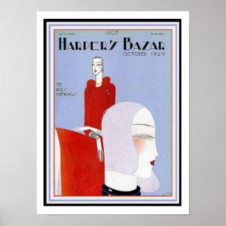 Poster 12 x 16 de la cubierta del art déco del póster