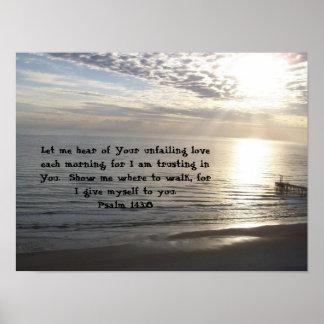 Póster 143:8 del salmo