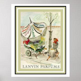 Poster 16 x 20 del florista de Lavin Parfums del Póster