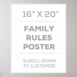 """Póster 16"""" x 20"""" familia gobierna el poster"""