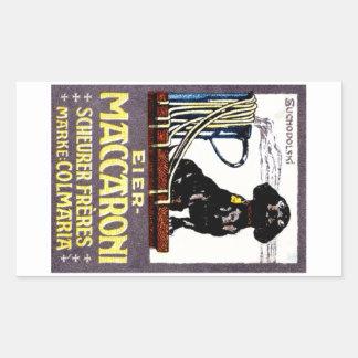 Poster 1910 del macarrón pegatina rectangular