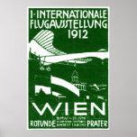 Poster 1912 del salón aeronáutico de Viena
