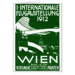 Poster 1912 del salón aeronáutico de Viena Tarjetón