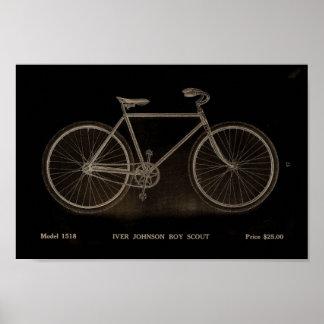 Poster 1915 del arte del anuncio de la bicicleta
