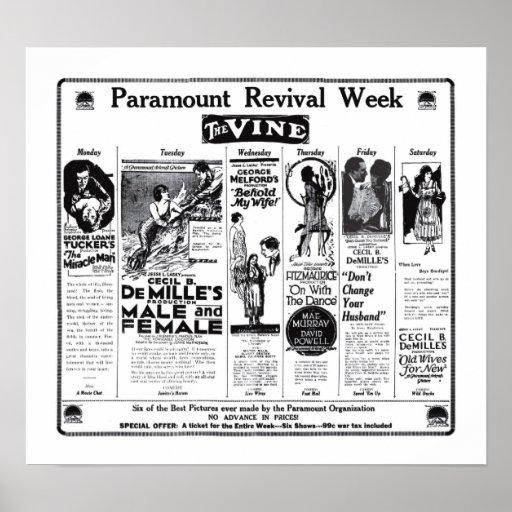 Poster 1922 de los anuncios de la película del vin