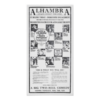 """Poster 1922 del anuncio de la película del vintag Póster"