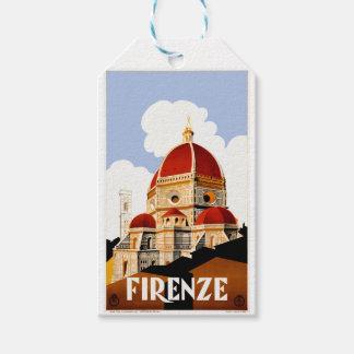 Poster 1930 del viaje de Florencia Italia Etiquetas Para Regalos