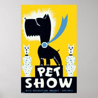 Poster 1937 del vintage de WPA de la demostración Póster