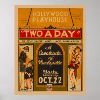 Poster 1938 del vintage de Cavalcadevaudeville WPA Póster