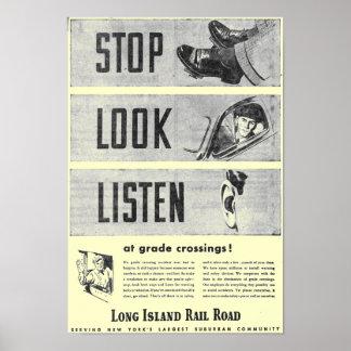 Poster 1946 de la seguridad del ferrocarril de Lon