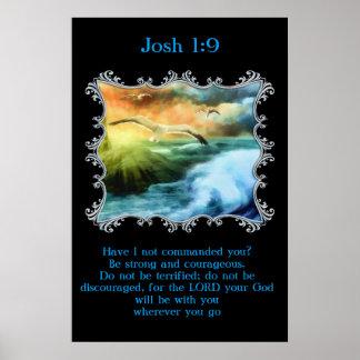 Póster 1:9 de Josh con las gaviotas que vuelan sobre el