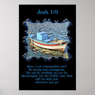 Póster 1:9 de Josh con un barco viejo en el océano