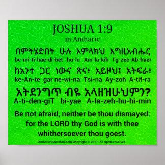 Póster 1:9 de Joshua en poster del Amharic