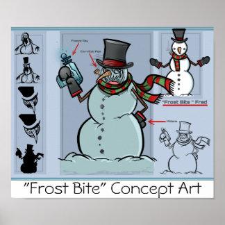 """""""Poster 1 de la mordedura de Frost de los horizont"""