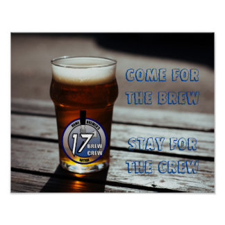 Poster #1 del eslogan del equipo del Brew
