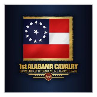Póster 1r Caballería de Alabama